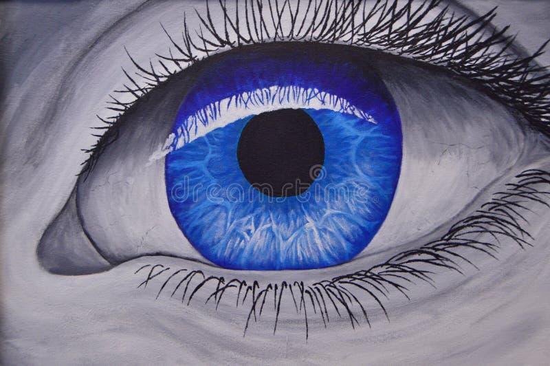 Blue eye close up royalty free stock photos