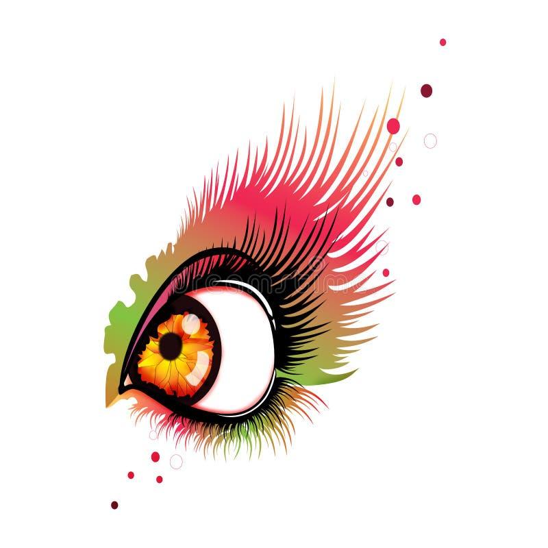 Eye el extracto ilustración del vector