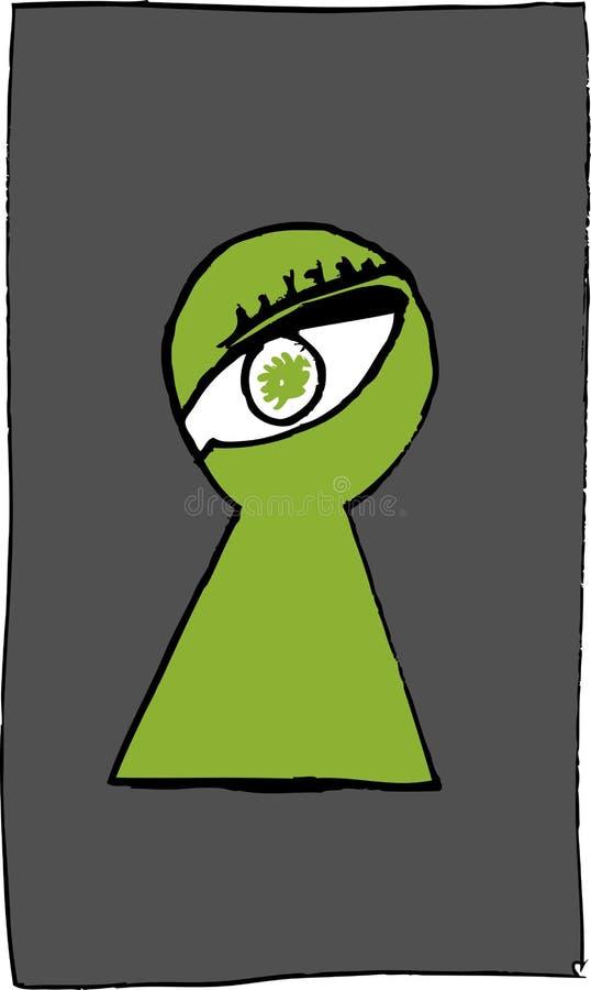 Eye en el ojo de la cerradura libre illustration