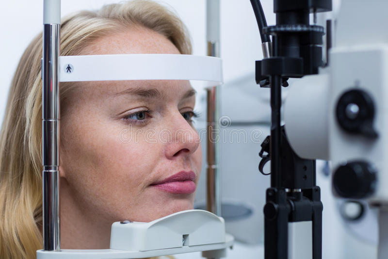Download Eye Examination On Slit Lamp Stock Image   Image Of Clinic,  Machine: 76023939