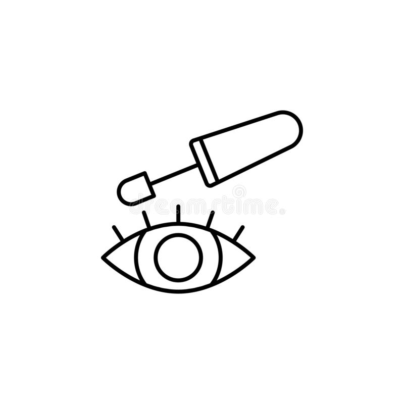 Eye, eyelashes, carcass icon. Simple thin line, outline illustration of Beauty icons for UI and UX, website or mobile application. On white background vector illustration