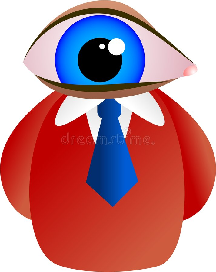 Download Eye face stock illustration. Image of discovery, conceptual - 3191028