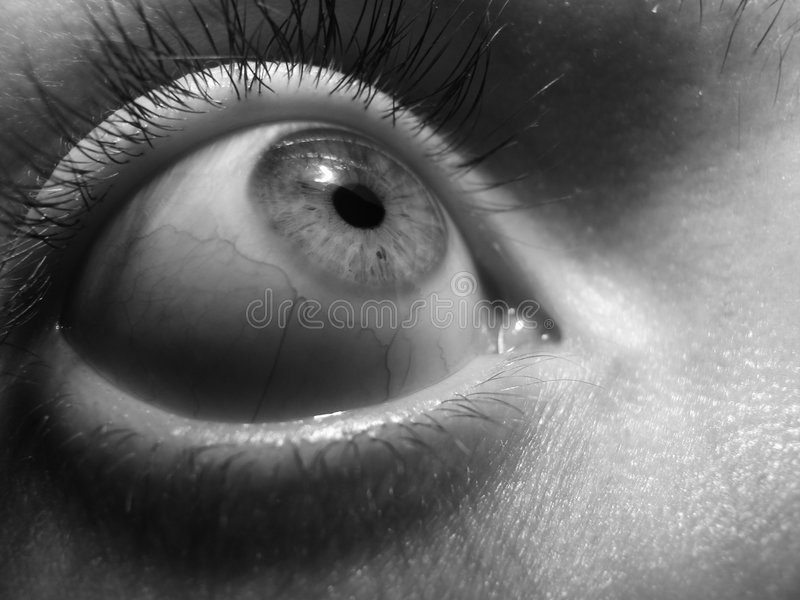Eye fear stock images