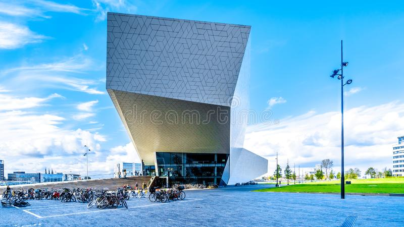 The Eye Film Museum by Het IJ in Amsterdam North, the Netherlands royalty free stock photography