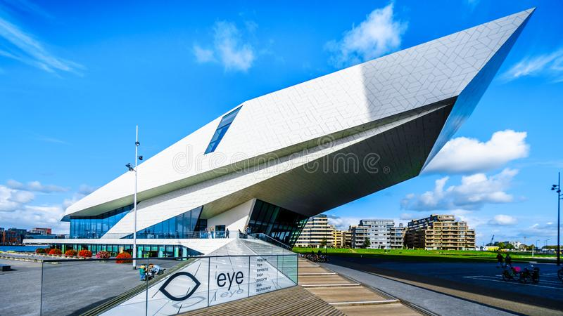 The Eye Film Museum by Het IJ in Amsterdam North, the Netherlands royalty free stock image