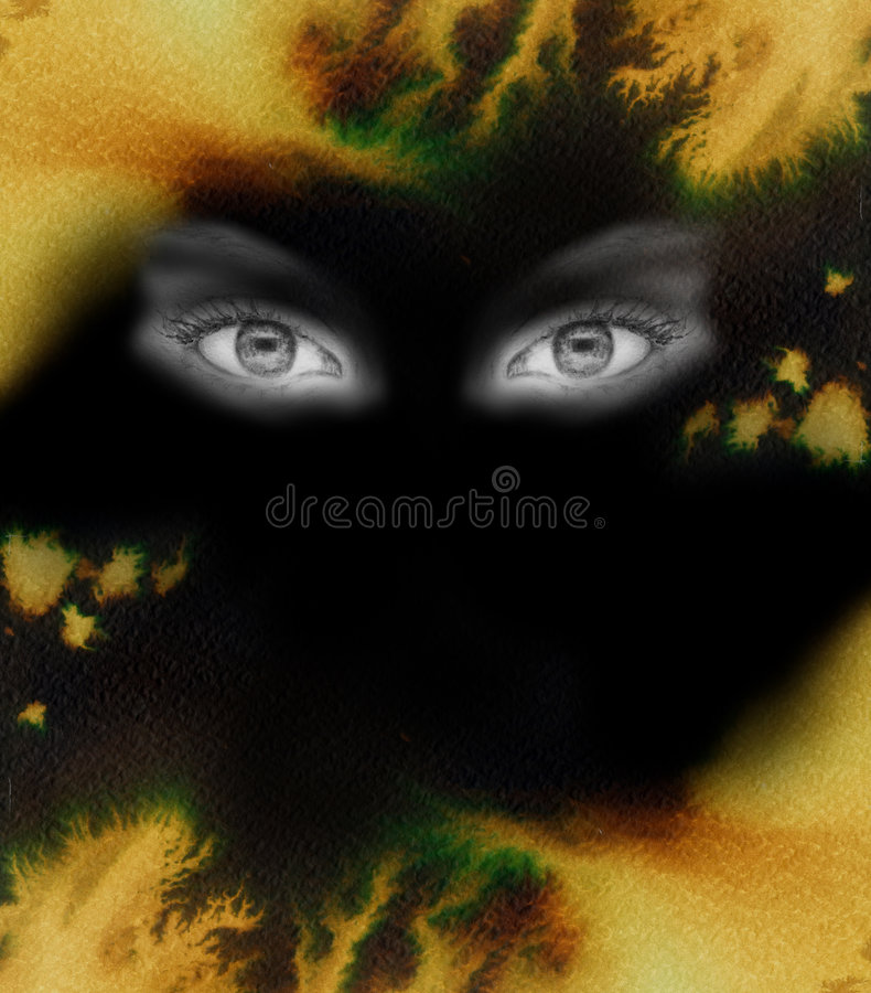 Eye in a fire background vector illustration