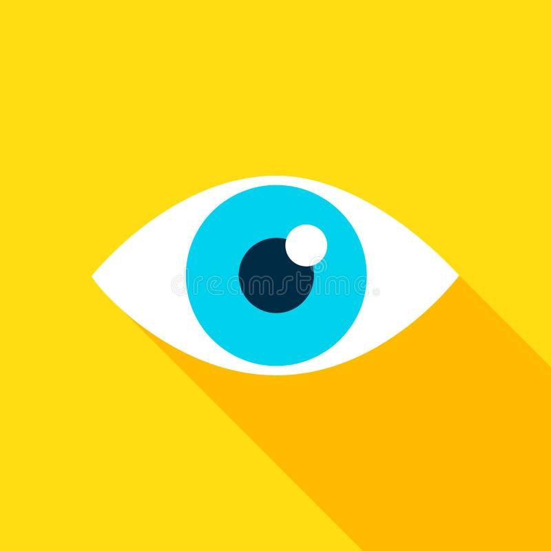 Eye Flat Icon vector illustration