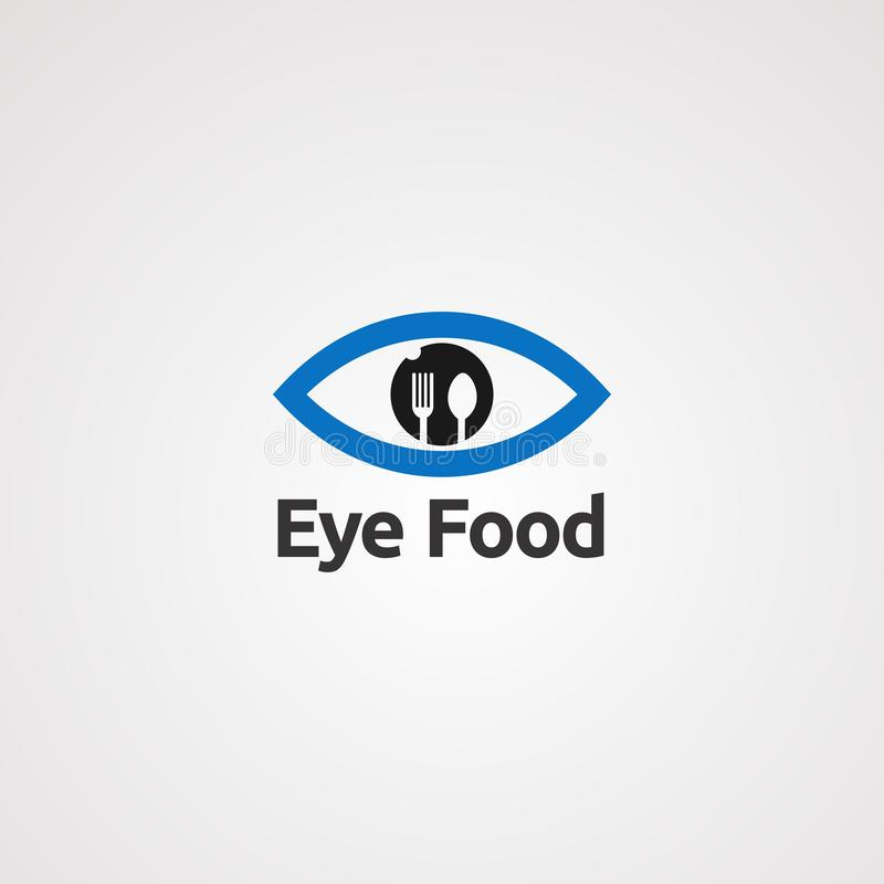 Eye food logo vector, icon, element, and template vector illustration