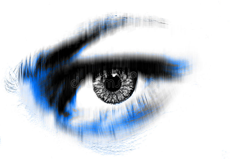 Eye future vision stock image