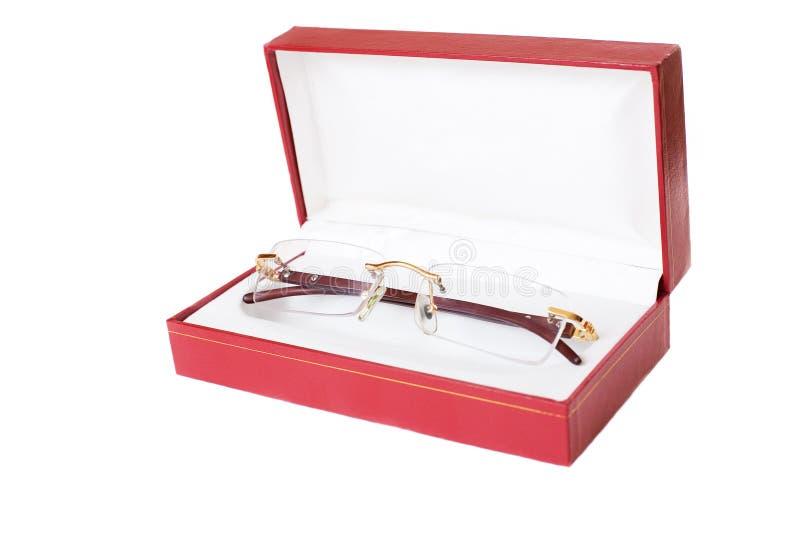 Eye glasses in case stock photo