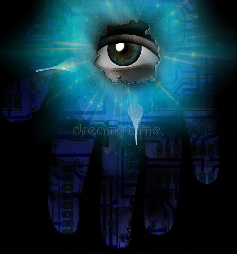 Eye And Hand Royalty Free Stock Image
