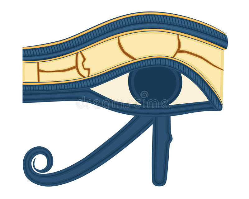 The Eye of Horus. (Eye of Ra, Wadjet) believed by ancient Egyptians to have healing and protective powers. Vector illustration saved as EPS AI8 also available royalty free illustration