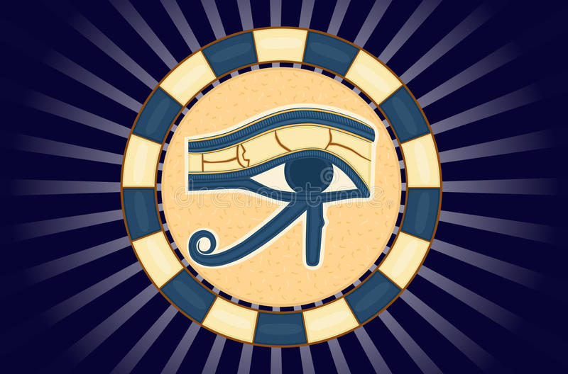 The Eye of Horus. (Eye of Ra, Wadjet) believed by ancient Egyptians to have healing and protective powers.Vector illustration saved as EPS AI8 also available vector illustration