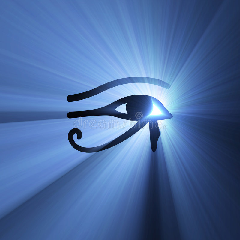 Download Eye Of Horus Egyptian Symbol Light Flare Stock Photo - Image: 3567720