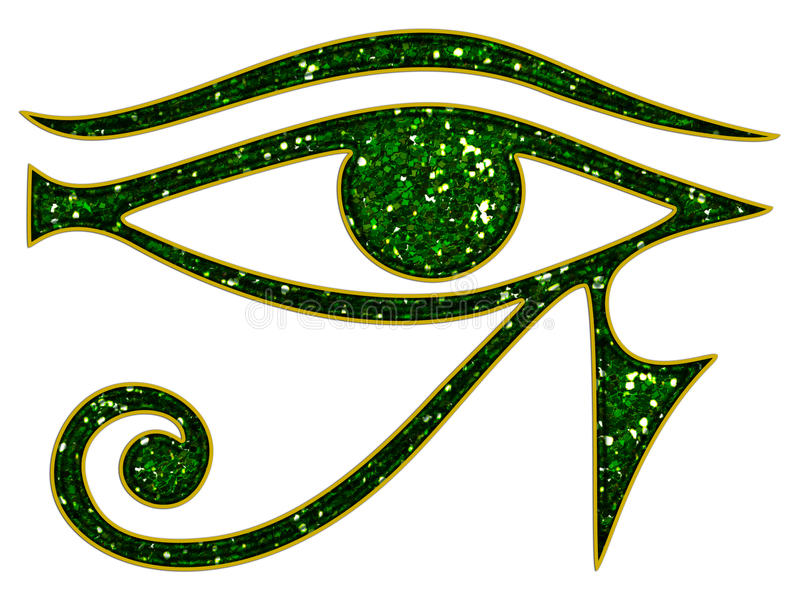 Eye of Horus - reverse Eye of Thoth. Eye of Horus - isolated on white background vector illustration