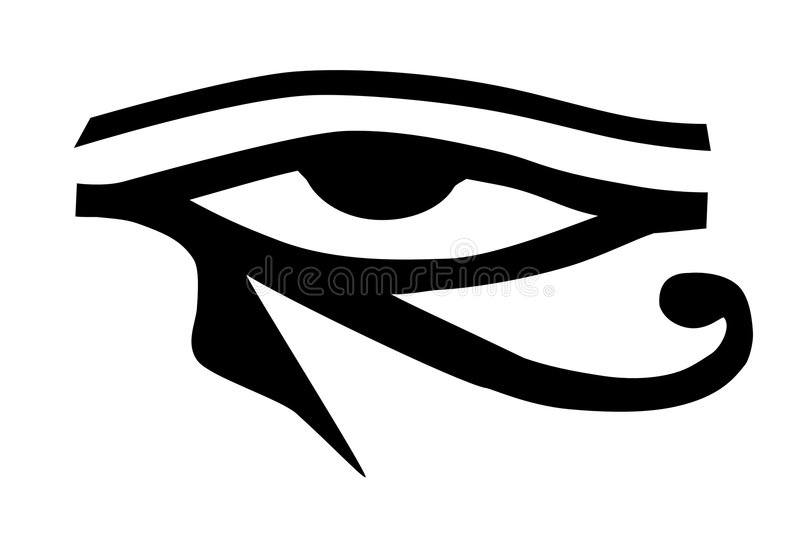 Eye of Horus tribal tattoo stock vector. Illustration of