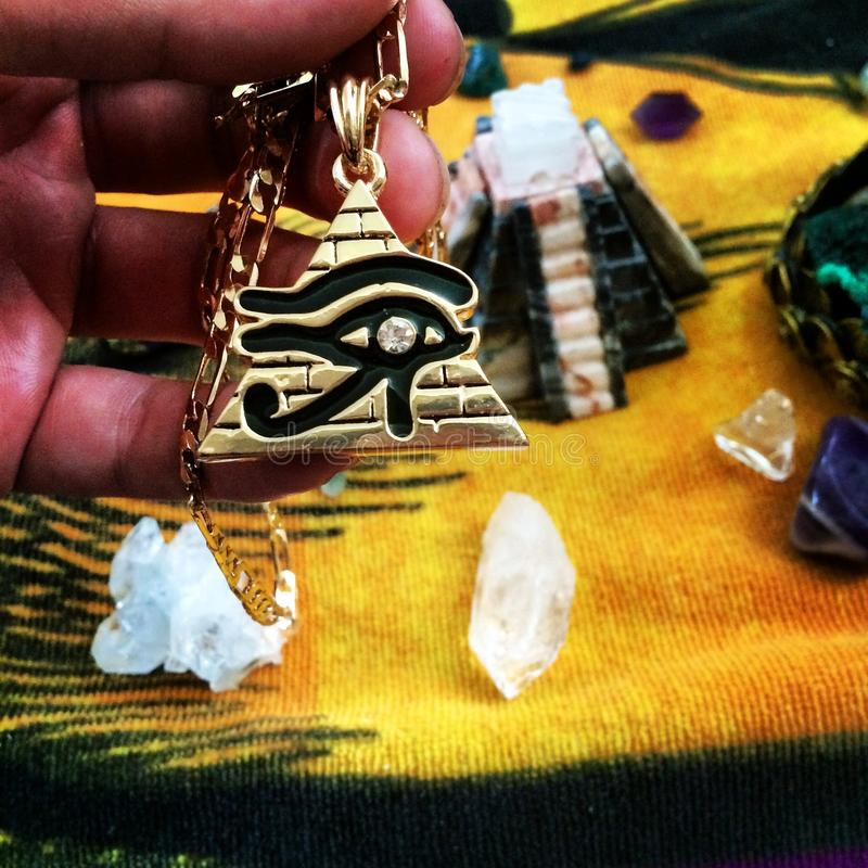 eye horusen royaltyfria bilder
