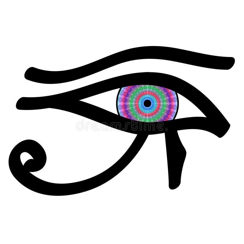 eye horusen stock illustrationer