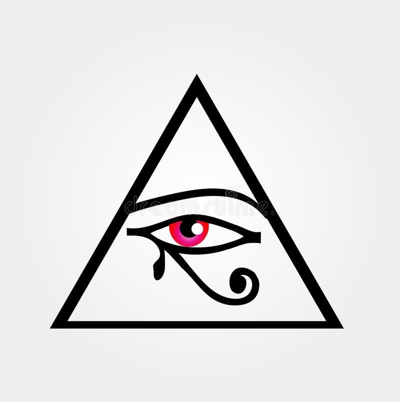 eye horusen royaltyfri illustrationer