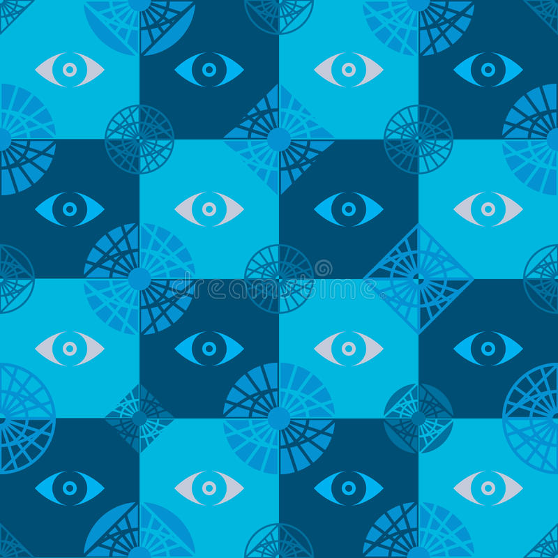 Eye icon seamless pattern stock illustration
