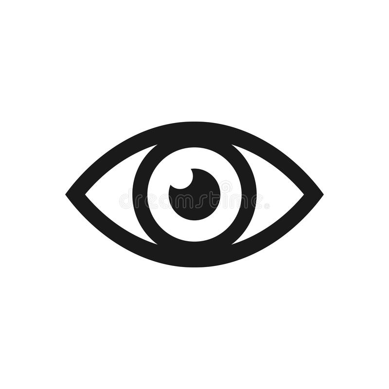 Eye icon. Vector illustration. royalty free stock images