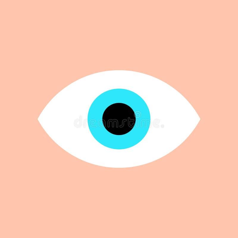 Eye icon. Vector illustration flat modern trendy design royalty free illustration