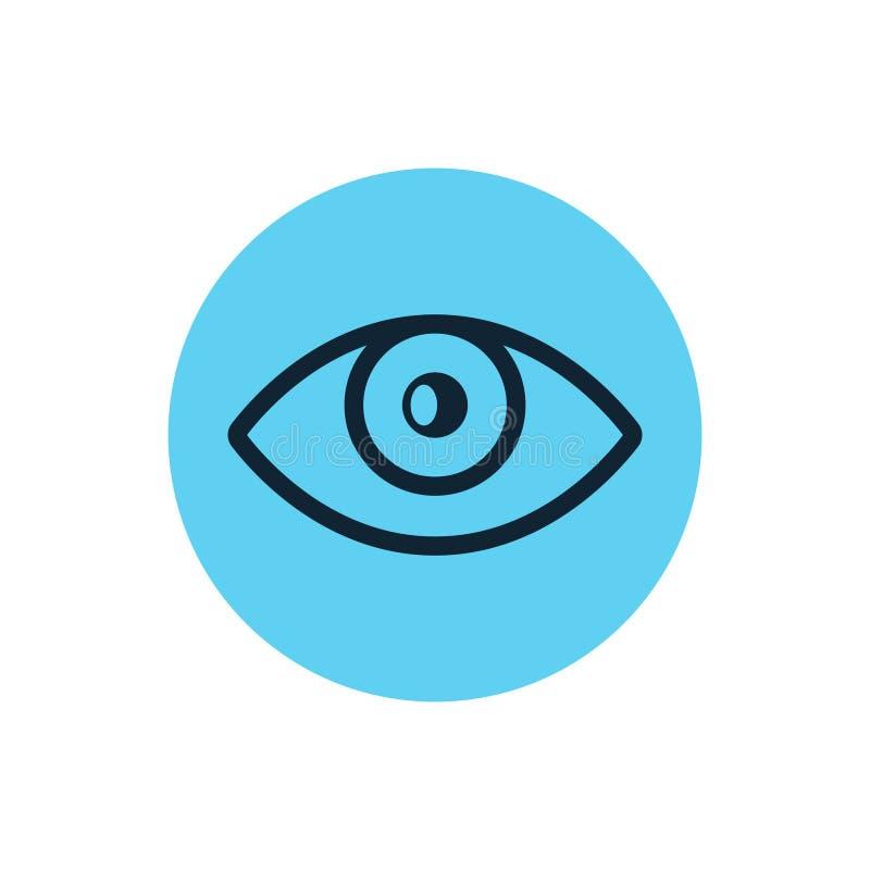 Eye icon vector line vision eyeball. Outline eye illustration view shape graphic sight.  vector illustration