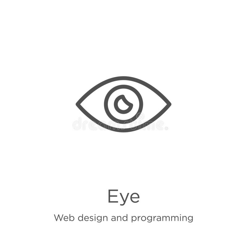 Eye icon vector from web design and programming collection. Thin line eye outline icon vector illustration. Outline, thin line eye. Eye icon. Element of web royalty free illustration