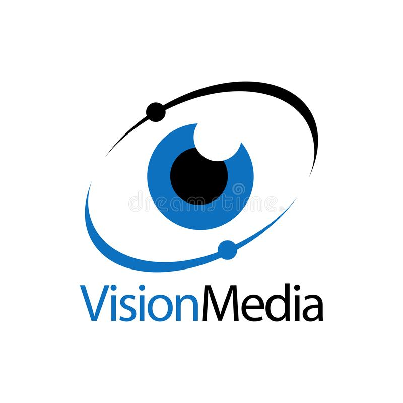Eye icon vision media logo concept design template. Idea royalty free illustration