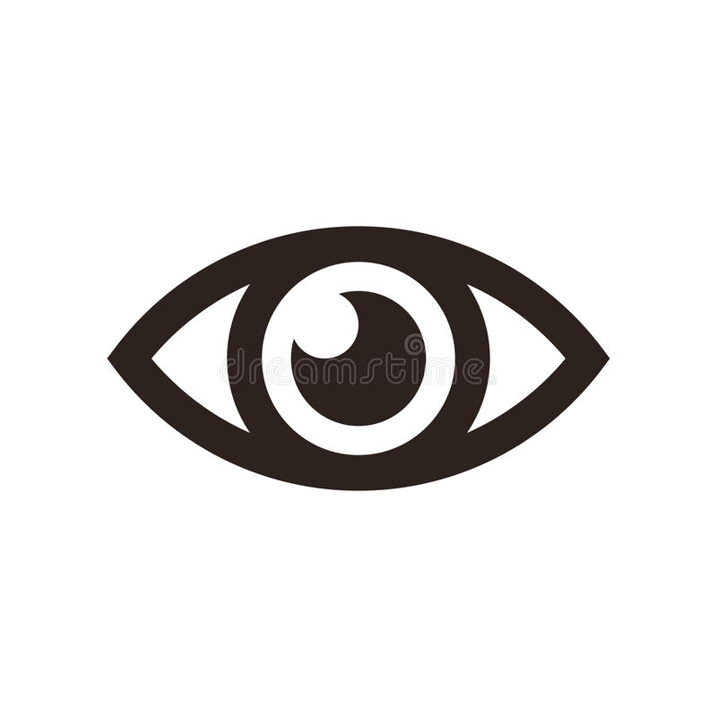 Eye icon. On white background vector illustration