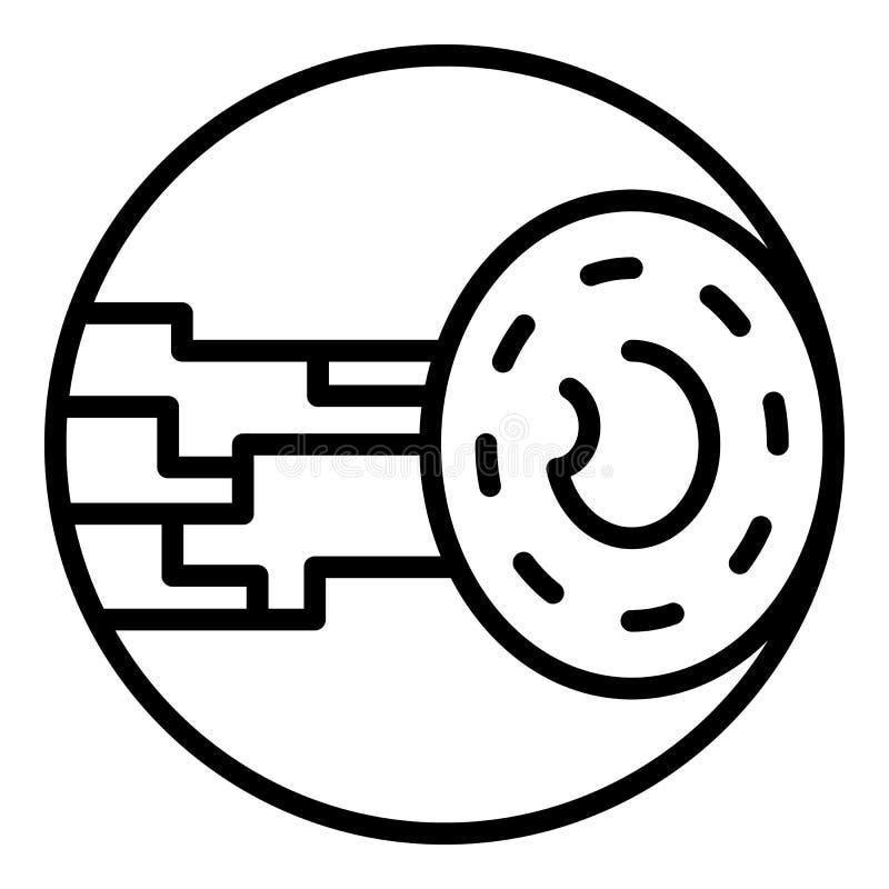 Eye implant icon, outline style. Eye implant icon. Outline eye implant vector icon for web design isolated on white background royalty free illustration