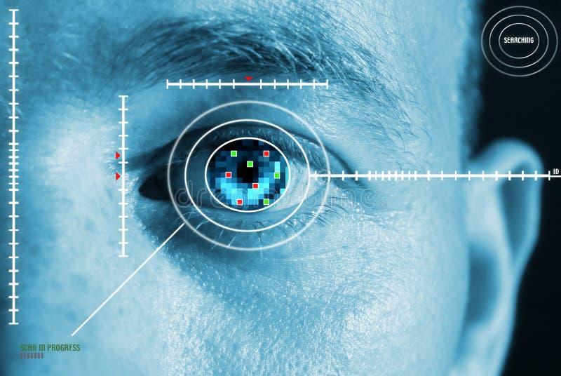 eye irisbildläsningen royaltyfria bilder