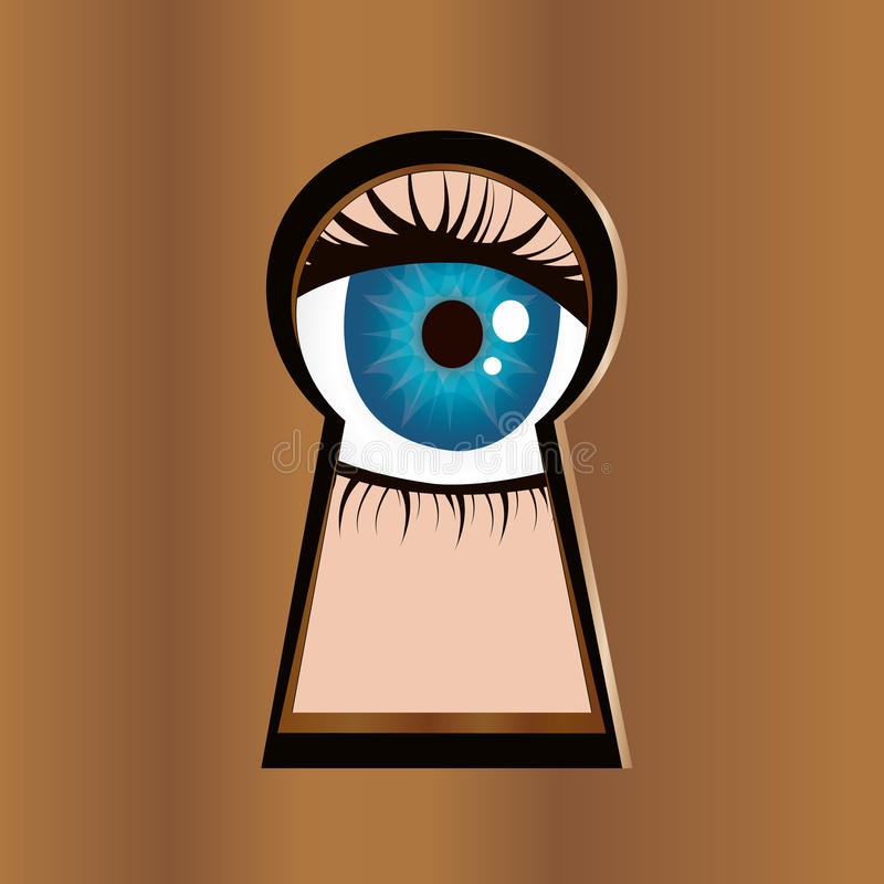 Download Eye in keyhole stock illustration. Image of person, people - 23579761