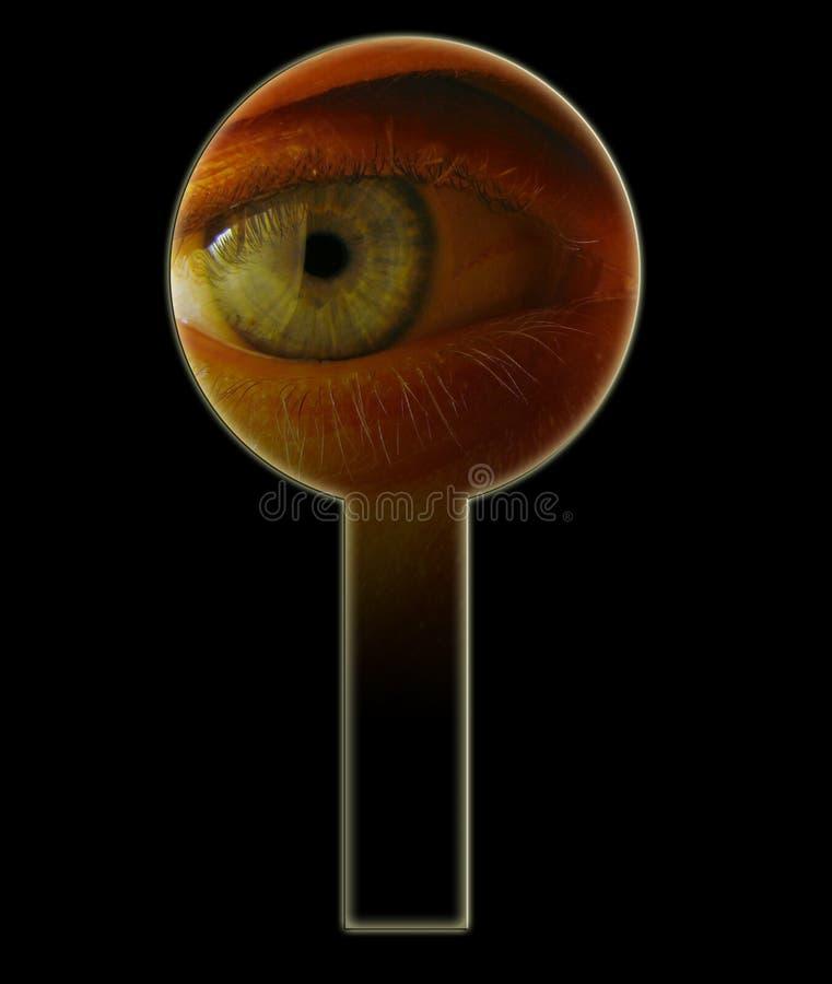 Eye in keyhole. VIP royalty free stock image