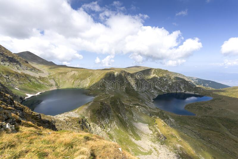 Eye and the Kidney Lakes, The Seven Rila Lakes, Bułgaria obraz royalty free