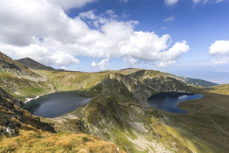 Eye and the Kidney Lakes, The Seven Rila Lakes, Bułgaria zdjęcia royalty free