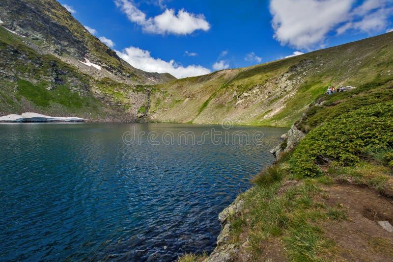 The Eye Lake, The Seven Rila Lakes, Rila Mountain. Bulgaria royalty free stock photography
