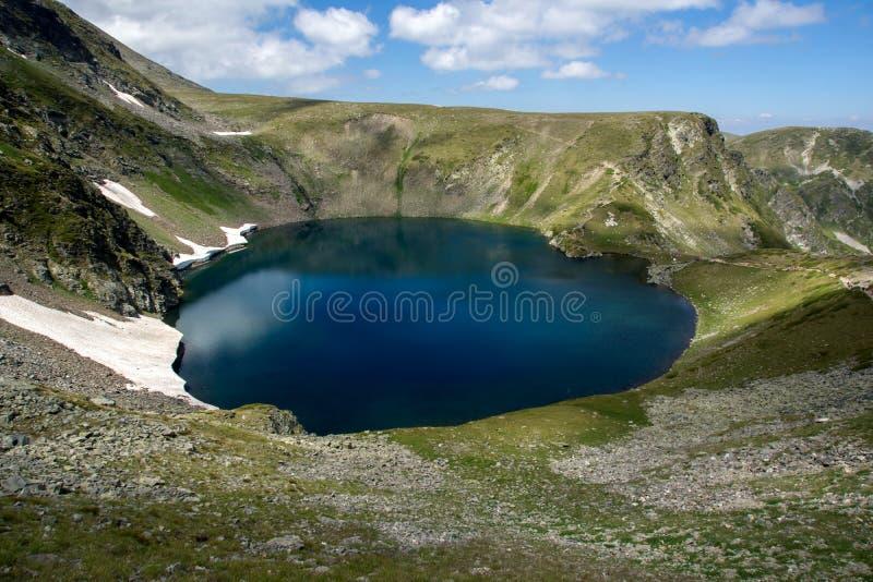 The Eye Lake, The Seven Rila Lakes, Rila Mountain. Bulgaria stock photos