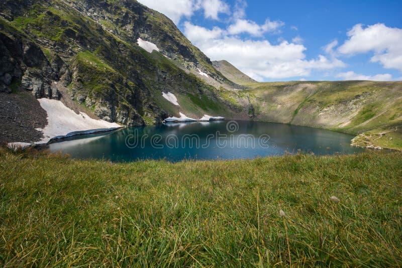 The Eye Lake, The Seven Rila Lakes, Rila Mountain. Bulgaria royalty free stock image