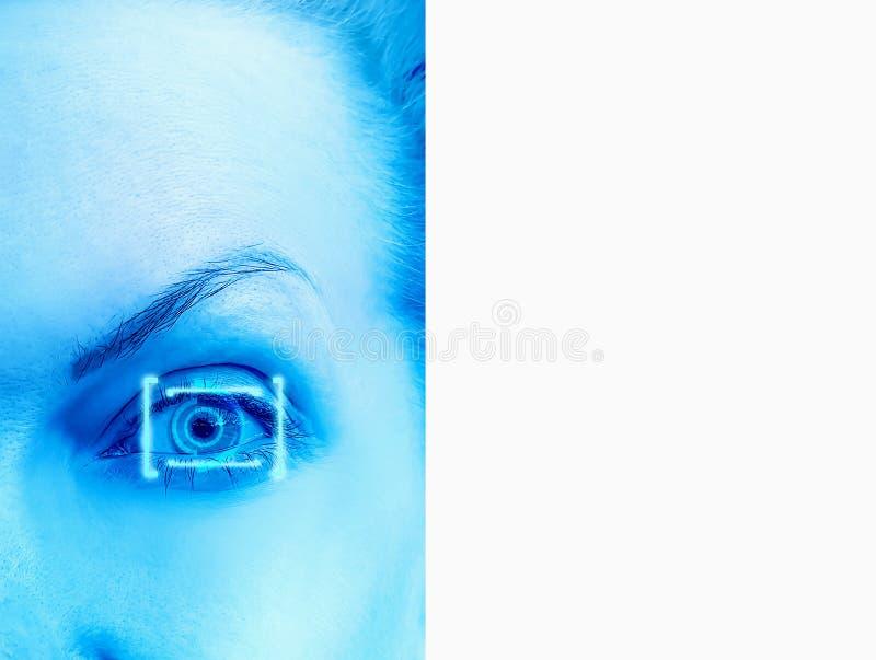 Eye laser correction optimistic concept. Eye laser correction concept optimistic stock photography