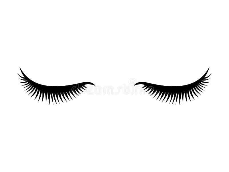 Eye lashes icon. Lashes royalty free illustration