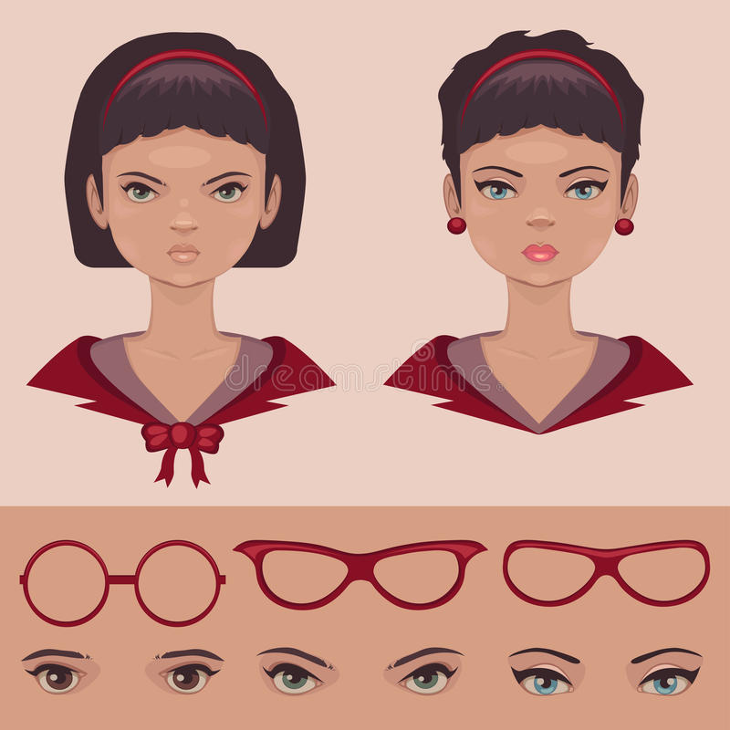 Free Eye,lips And Hair, Face, Head Character Stock Images - 34235114