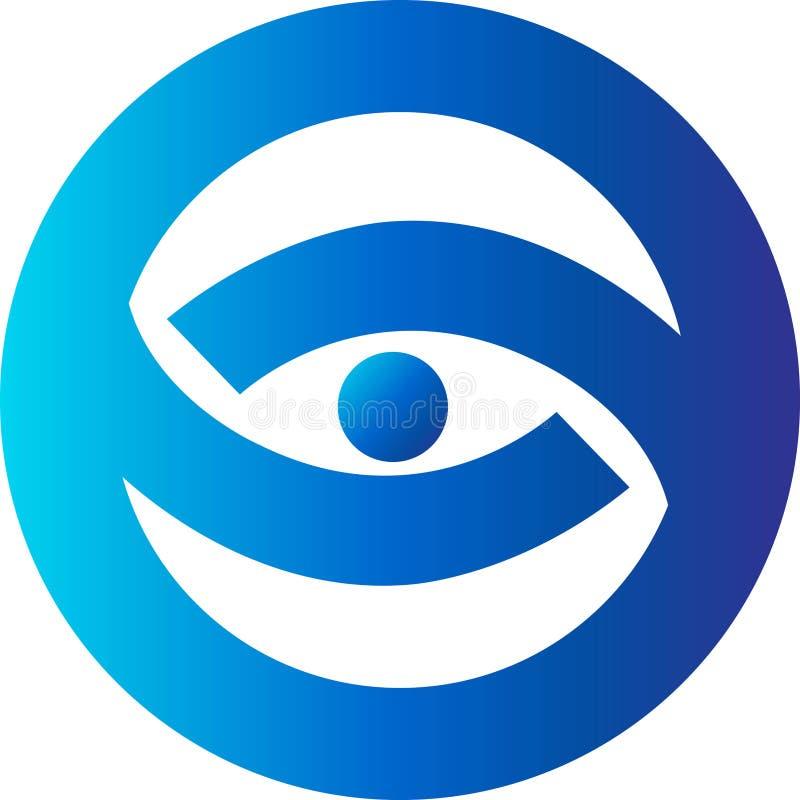 Download Eye logo stock illustration. Image of center, blue, curve - 13741535