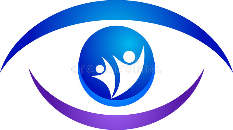 Eye logo. Illustration of eye logo design isolated on white background
