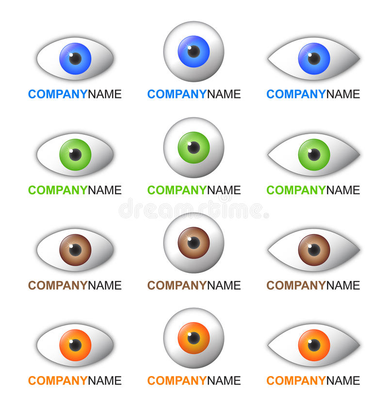 Download Eye logo and icon set stock vector. Image of design, color - 18025934