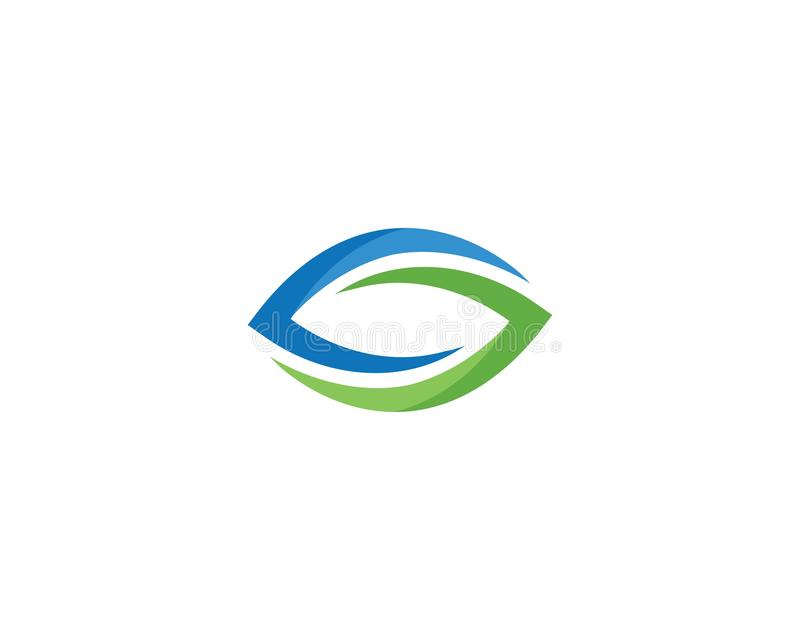 Eye logo vector design stock illustration
