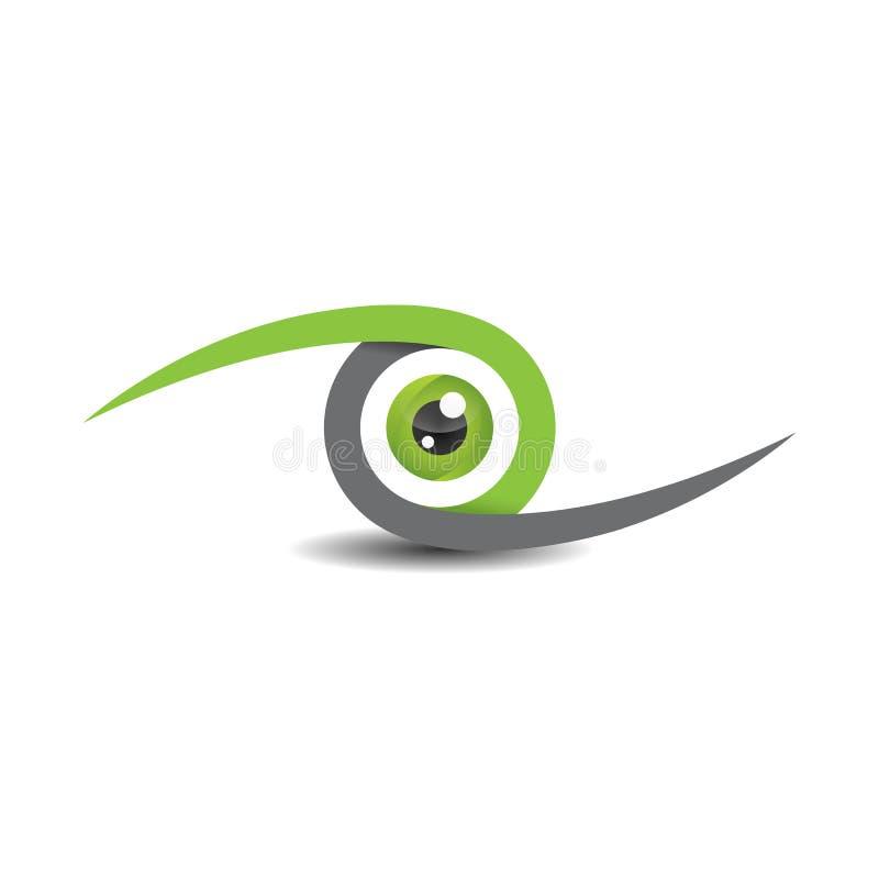 Eye Logo vision. Creative Vision Logotype concept. Colorful royalty free illustration