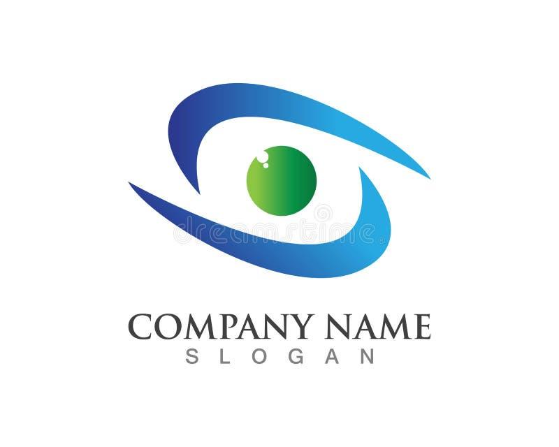 Eye logotipos do cuidado e vetores do app dos ícones do molde dos símbolos ilustração do vetor