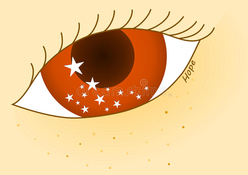 Download Eye Looking At The Future Stars Stock Illustration - Image: 95760543