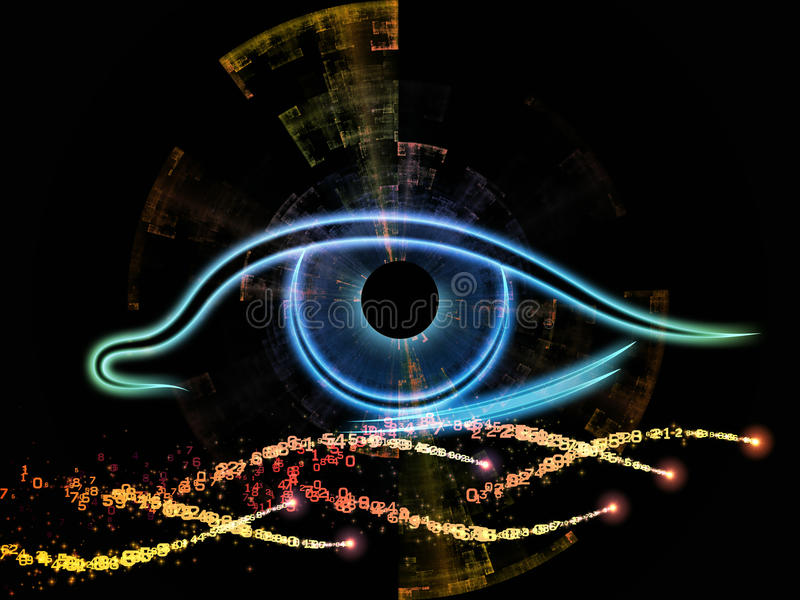 Download Eye of the machine stock illustration. Image of symmetry - 25921770
